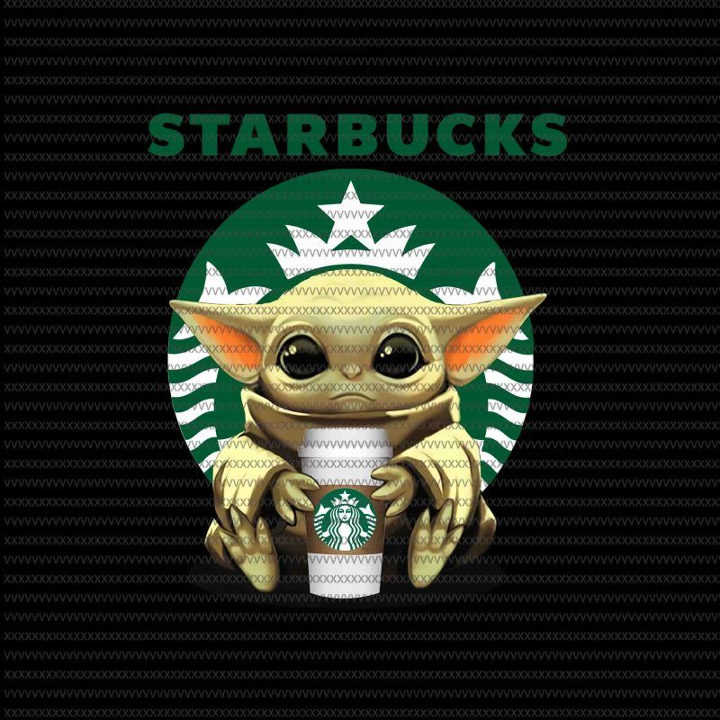 Baby Yoda Starbucks Png Baby Yoda The Mandalorian The Child Christmas Png Baby Yoda Png Star Wars Png The Child Png Buy T Shirt Design For Commercial Use Yoda Wallpaper