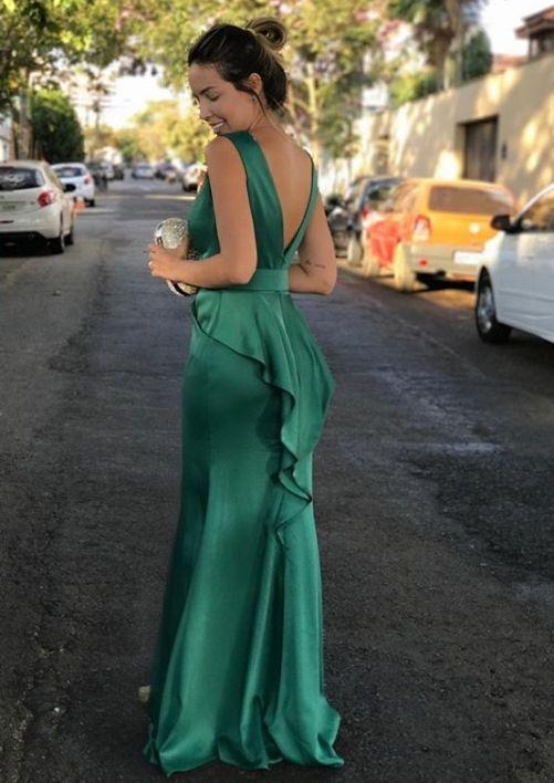 Vestido para casamento verde esmeralda