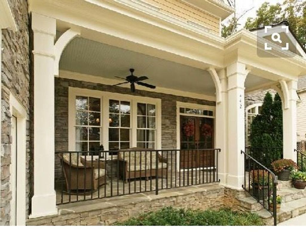 Farmhouse Front Porch Railing Ideas Pin By Ruth Fontaine On Dream House Pinterest Porch
