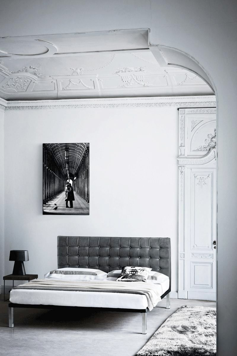 gray bedroom via fashionsquad