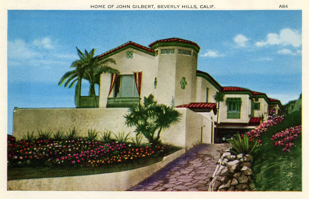 Home of john gilbert beverly hills calif 1040 669 for Movie stars homes in beverly hills