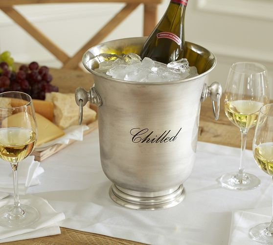Antique Silver Wine Cooler Wine Bucket Bar Glassware Wine Cooler