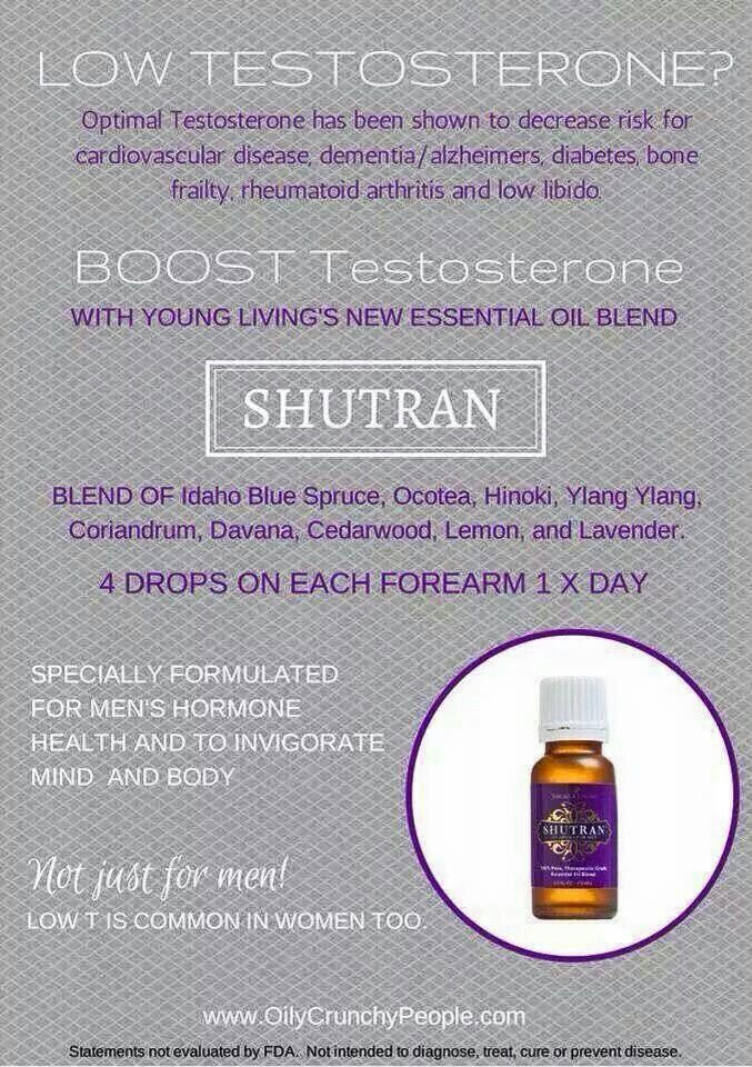 Boost testosterone | Young living essential oils | Essential