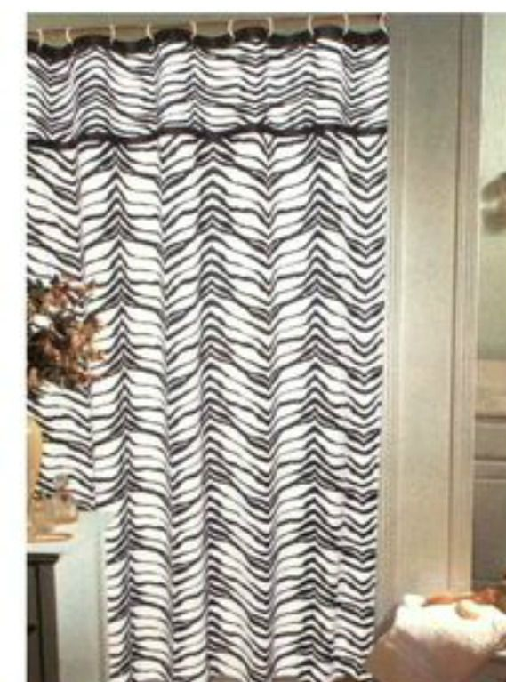 Zebra Print Fabric Shower Curtain Popular Bath 70 X72