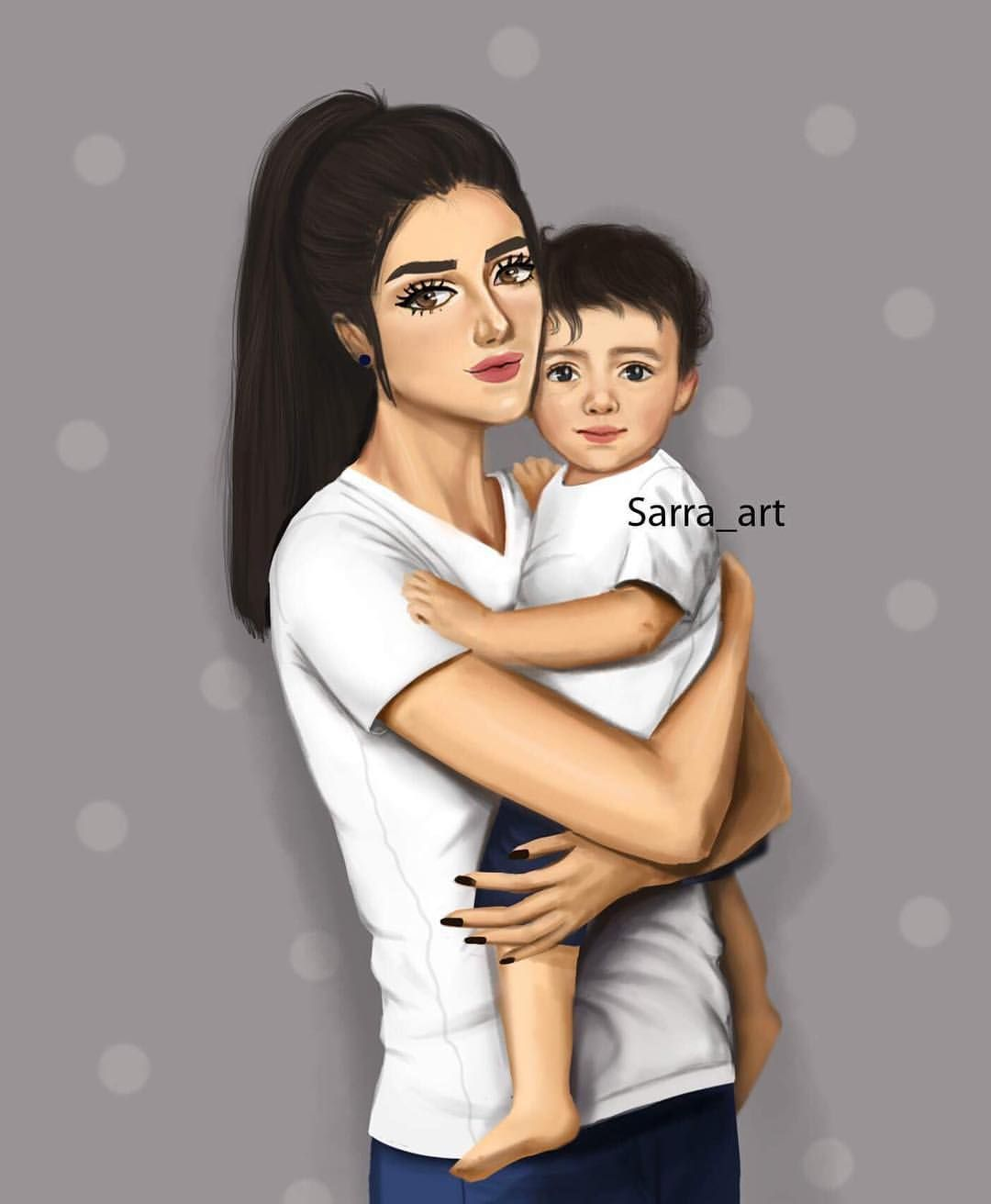 4 789 Likes 428 Comments Sara Ahmed Sarra Art On Instagram ابن اختي هو ابني التي لم تلده بطني Sarra Art Mother Art Mom Art