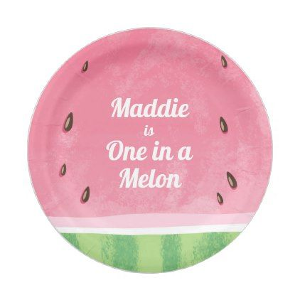 One in a melon First birthday Paper Plates summer | Birthdays and Birthday party ideas  sc 1 st  Pinterest & One in a melon First birthday Paper Plates summer | Birthdays and ...