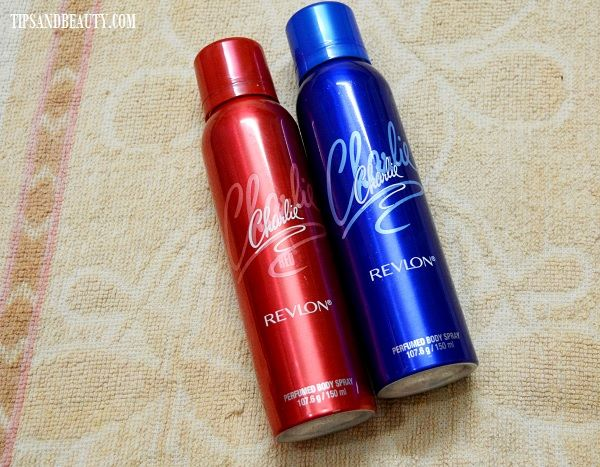 Revlon Charlie Perfumed Body Sprays in Red and Blue Review 2