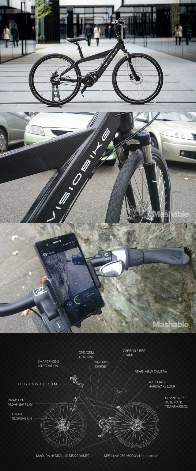 Visiobike The E Bike That Connects With Your Smartphone Bike