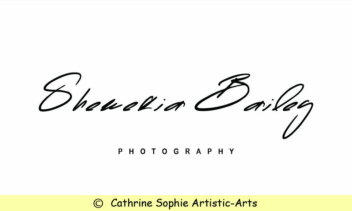 Beautiful Signature Photography Logo Premade Watercolor Logo