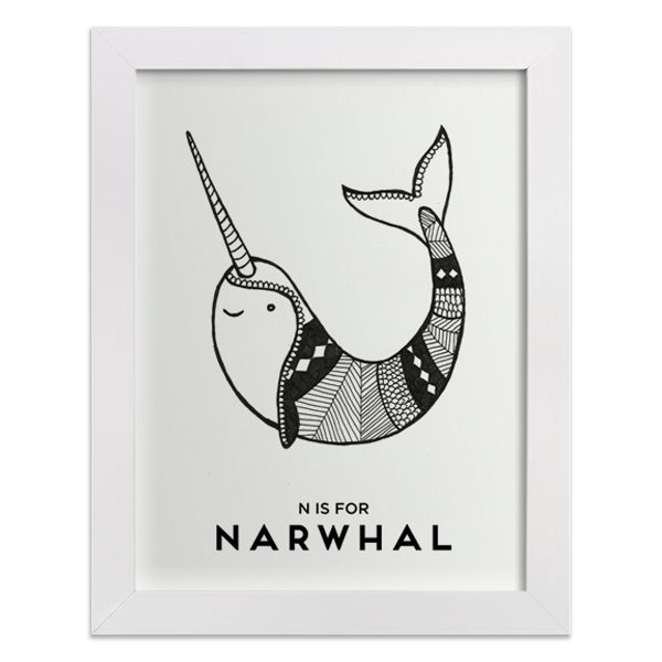 Cute illustrated narwhal print | Crafts! | Pinterest | Dibujos ...