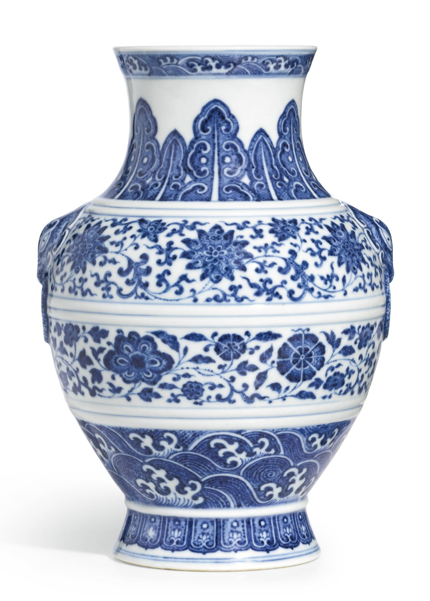 A BLUE AND WHITE VASE, HU JIAQING SEAL MARK AND PERIOD