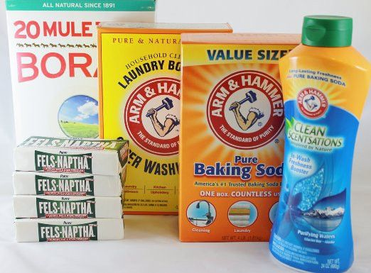Complete Do It Yourself Laundry Soap Kit 4 Fels Naptha Bars