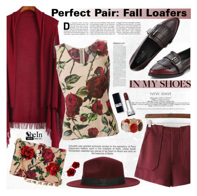 """""""Perfect Pair: Fall Loafers"""" by katjuncica ❤ liked on Polyvore featuring Dolce&Gabbana, Erica Lyons, Industrie and fallloafers"""