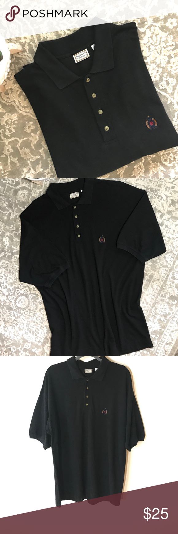 83c6d039f Men's VTG BUGLE BOY Polo Shirt - L Like New! Vintage BUGLE BOY Black Short