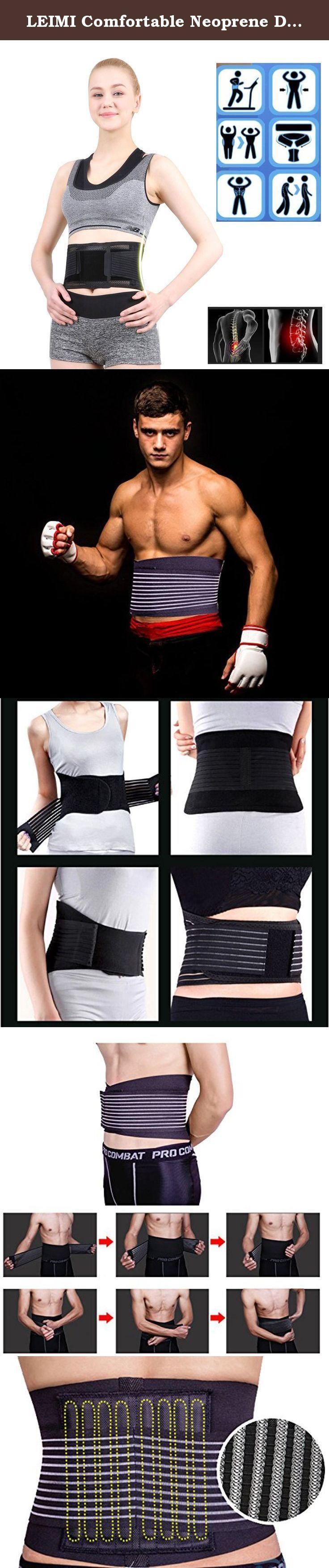 0d06117cc74 LEIMI Comfortable Neoprene Double Pull Lumbar Lower Back Support Brace  Exercise Velcro Adjustable Waist Trimmer Belt