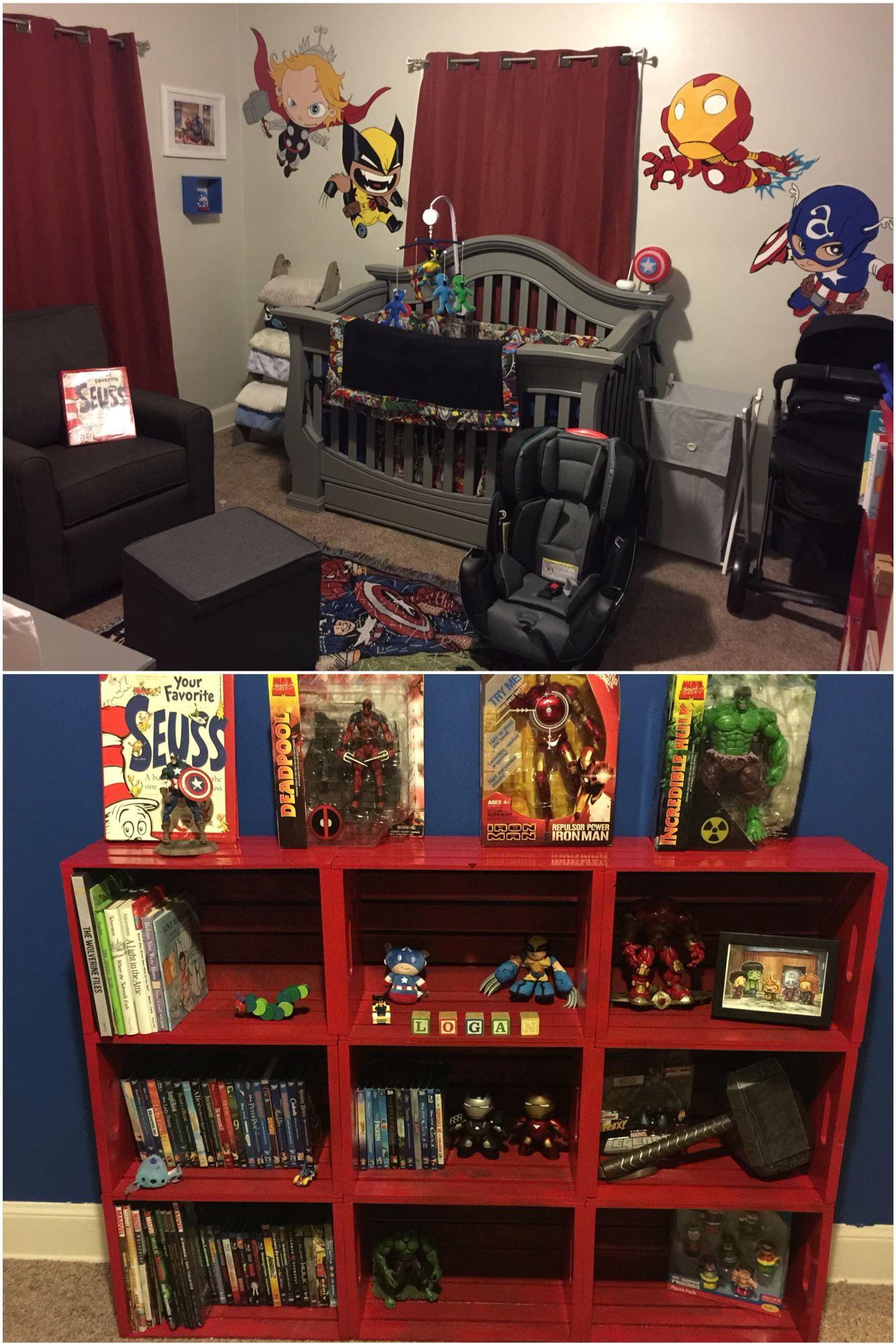 Marvel Nursery Baby Room Baby Boy Rooms Marvel Nursery