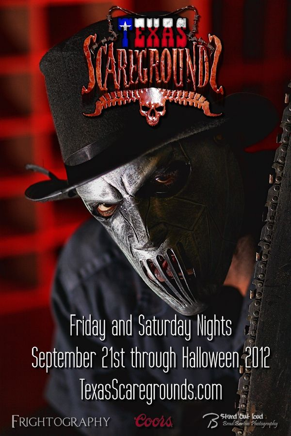 Texas Scaregrounds 2012 - Opens Sept 21st! #haunt #haunted #hauntedhouse #scary #halloween #horror #chainsaw