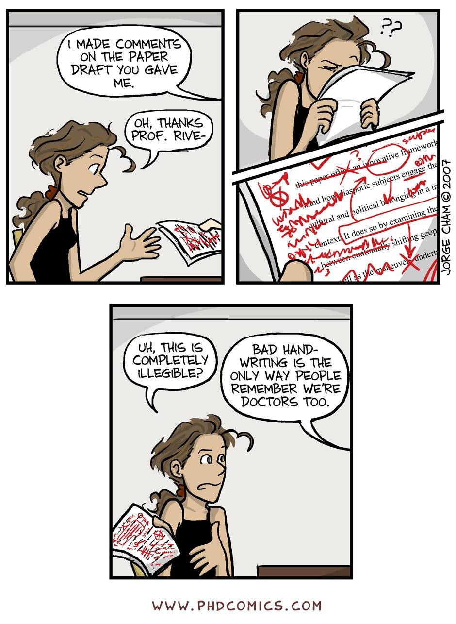 Phd comic the origin of the thesis