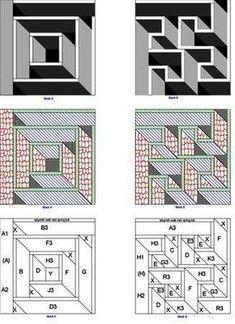 Kostenlose Quilt Muster Um Eine Perfekte Quilt Zu Machen Quilting Design For Labyrinth Walk Icin Labrynth Quilt Pattern Geometric Quilt Quilt Patterns Free