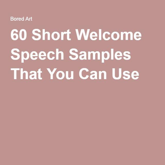 Welcome Speech Samples – Welcome Speech Example