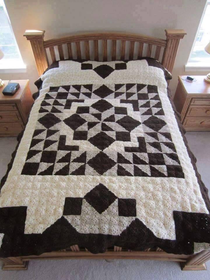 Resultado de imagen de crochet quilt | blanki | Pinterest ... : crochet quilt block patterns - Adamdwight.com