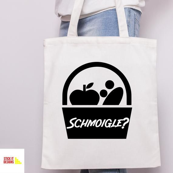 Schmoigle? Bag - Friday Night Dinner - Shopping Shop Bag for Life - Tote Cotton Canvas - Jackie Martin Jim Adam Jonny - Gift Gifts Present #fridaynightdinner