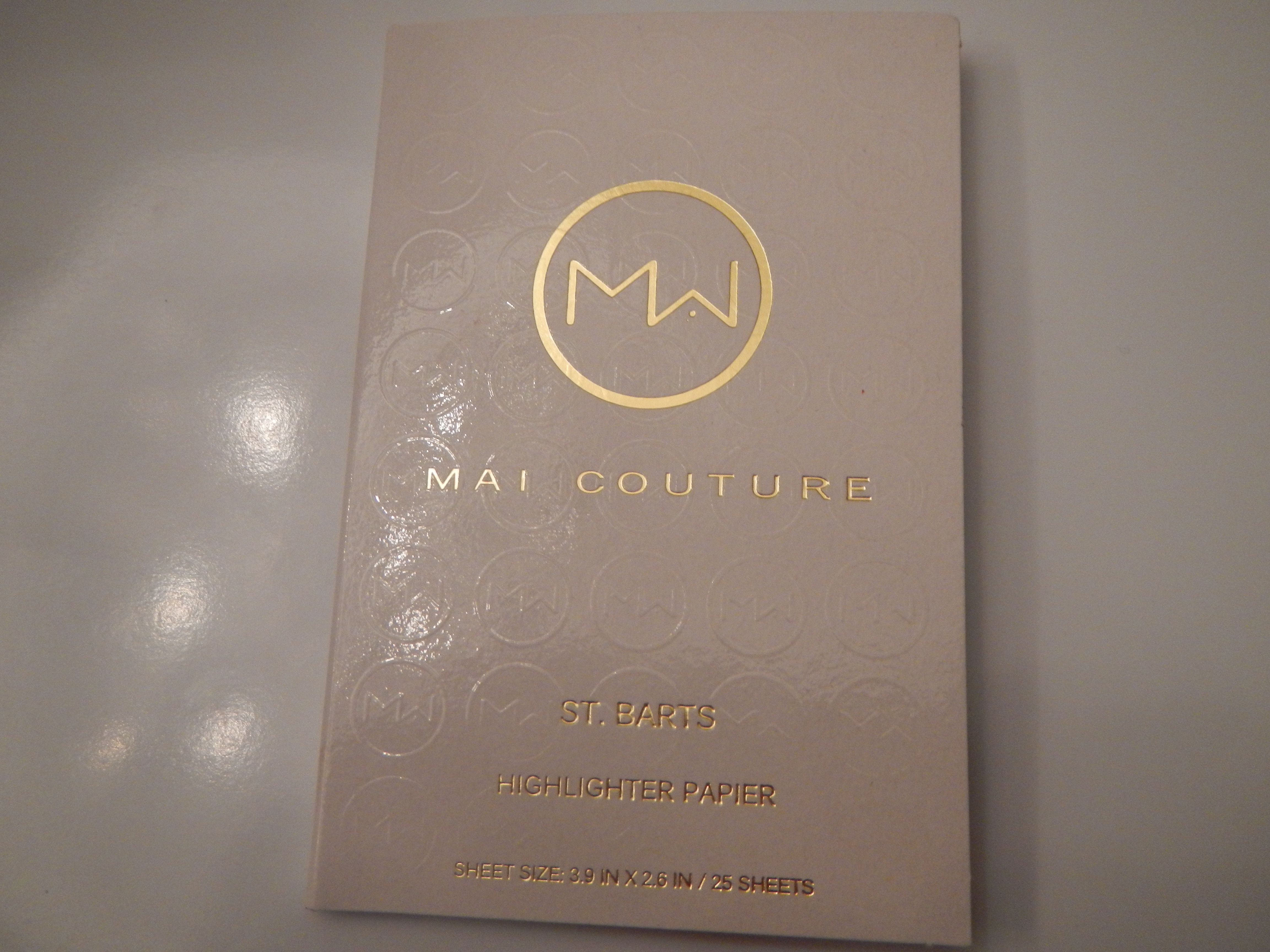 3$ Mai Couture Highliter paper in St Barts 25sheets