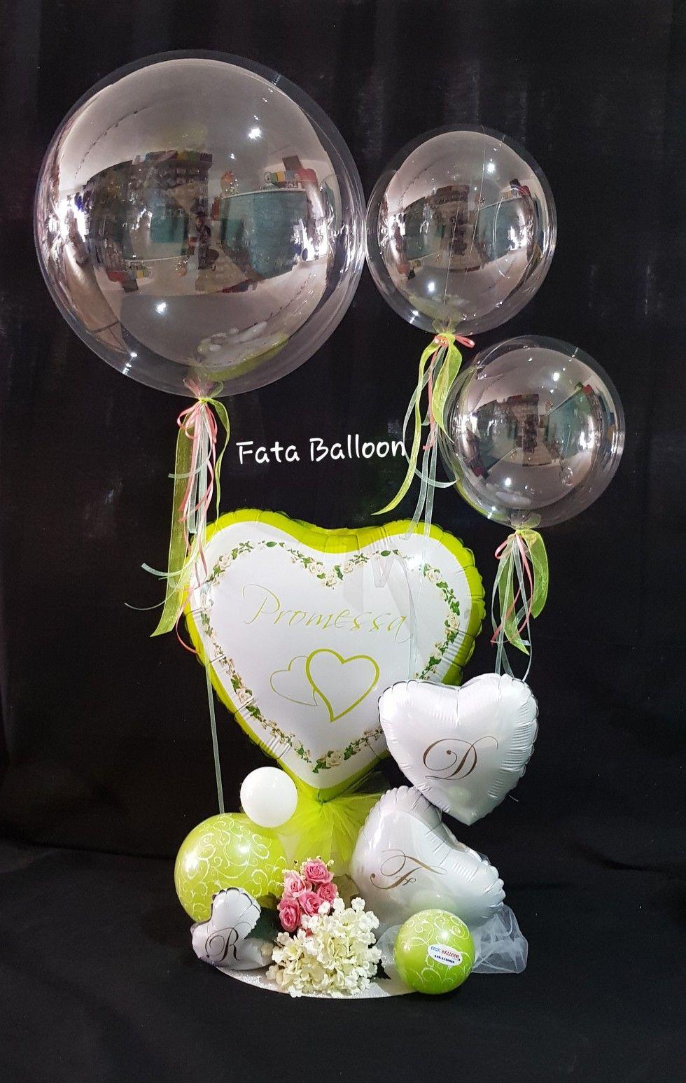 Composizione Balloon Promessa Di Matrimonio Palloncini Centrotavola Con Palloncino Decorazioni Con Palloncini