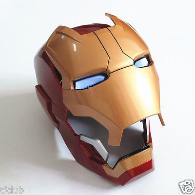 #Captain america #avengers 1:1 iron man mk42 costume mask #helmet for cosplay pro, View more on the LINK: http://www.zeppy.io/product/gb/2/162059170726/