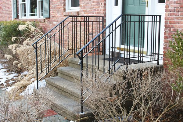 Love This Modern Wrought Iron Railing By Falling Hammer Productions In Ct Outdoor Stair Railing Iron Railings Outdoor Railings Outdoor