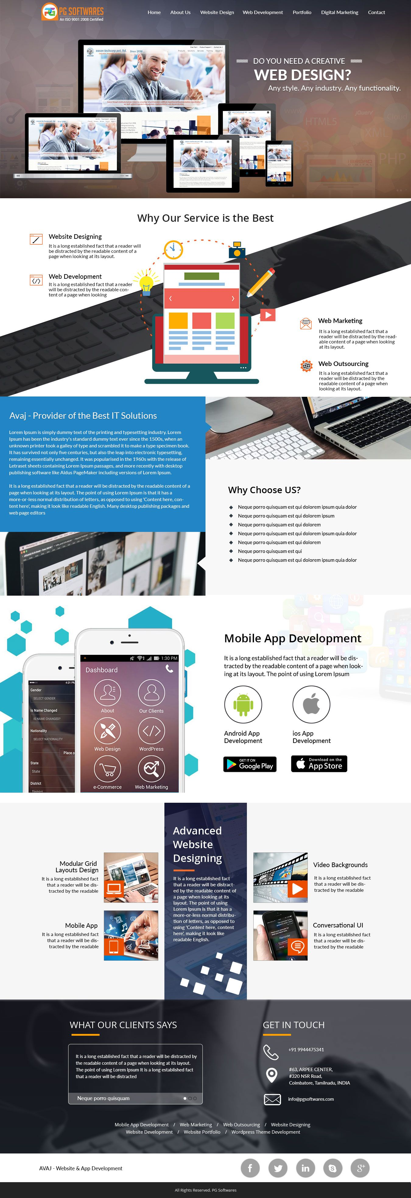 Pg Softwares Is The Best Web Design Company In Coimbatore Offer Good Looking Web Design For Mobile Web Desi Web Design Creative Web Design Corporate Web Design