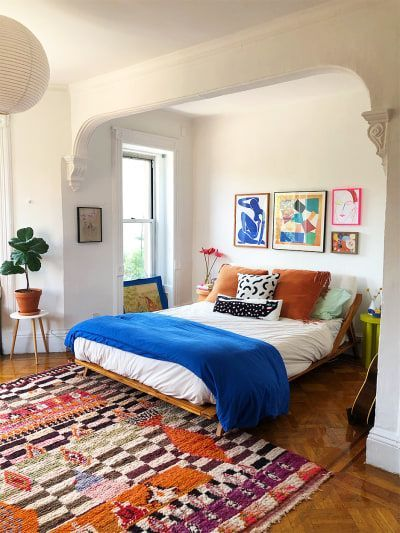 Photo of A Kaleidoscopic Brooklyn Rental Designed From the Rugs Up
