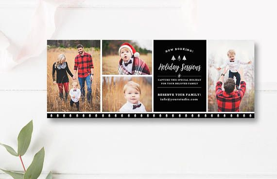 Facebook Timeline Photography Template Christmas Mini Session