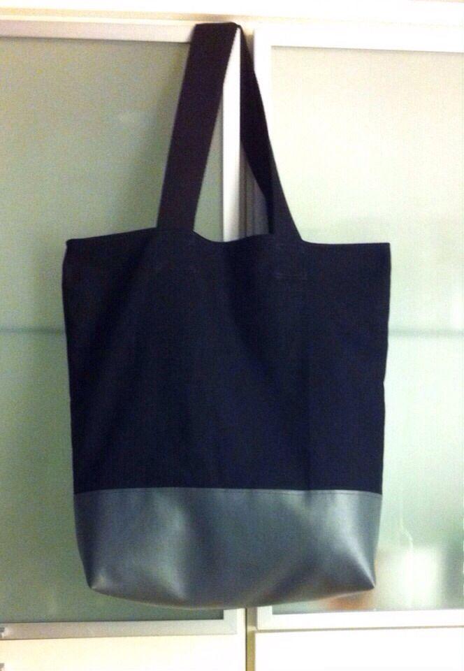 Tasche aus Kunstleder und Stoff | Nähen | Pinterest | Kunstleder ...