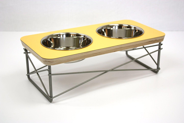 modern pet furniture. Modern Cat Dog Elevated Pet Feeder / Bowl Holder Dish Holder. $68.00, Via Furniture N