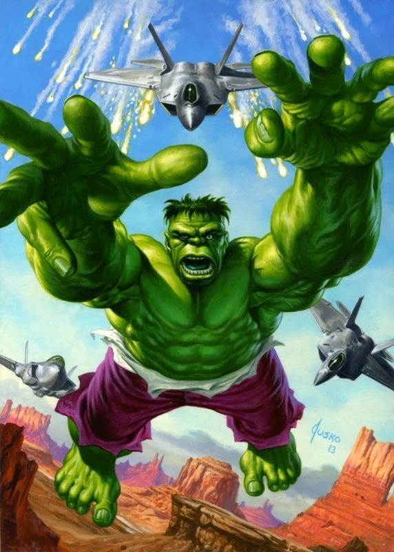 THE HULK!, in JOE JUSKO's 2016 MARVEL MASTERPIECES TRADING CARDS Comic Art  Gallery Room | Hulk marvel, Hulk, Marvel comic universe