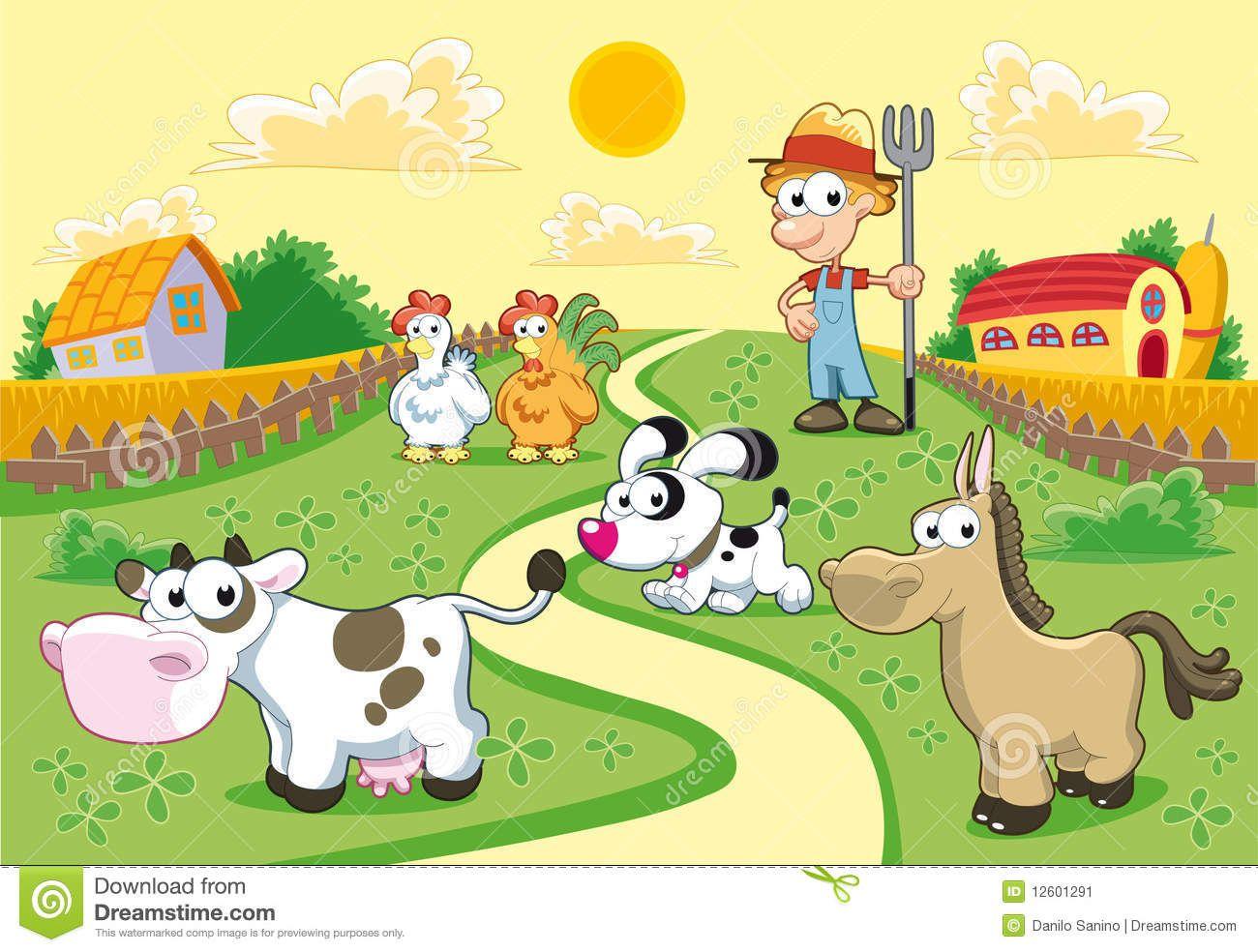 cuadros infantiles granja