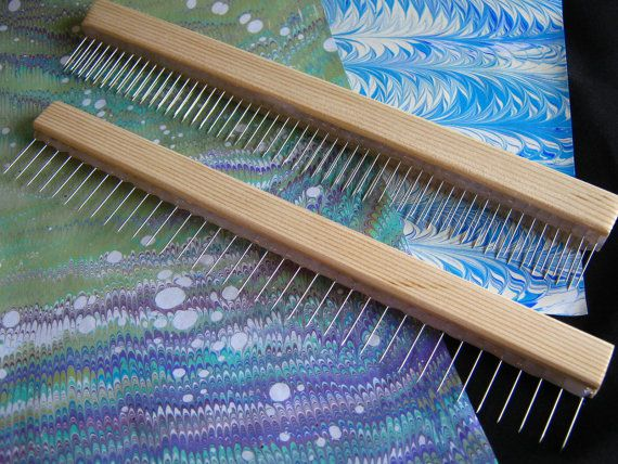Tool Set Comb For Marbling On Paper And