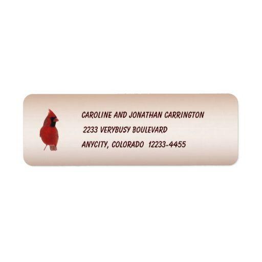 Cardinal Return Address Label Return address labels, Custom return