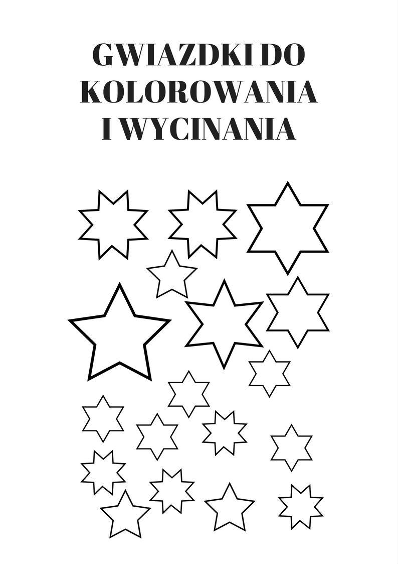 Gwiazdki Do Kolorowania I Wycinania Https Www Kredkauczy Pl Wycinanki I Szablony Home Decor Decals Home Decor