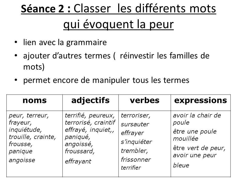 Séance 2 Classer Les Différents Mots Qui évoquent La Peur Jpg 960 720 Pixels Peur Familles De Mots émotions Et Sentiments