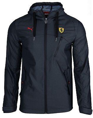 SALE Puma Ferrari Scuderia Mens Hooded Jacket Windbreaker Jacket Rain  Graphite 5197ffe1d31d