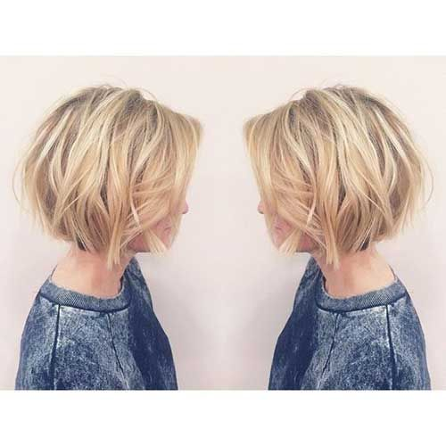 Frisuren blond bob kurz