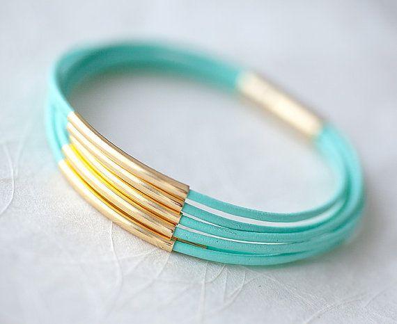 Leather Tiffany Bracelet