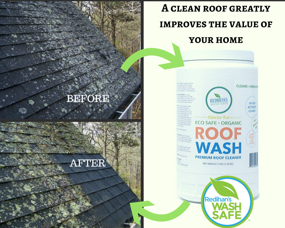 ROOF WASH Ideal for removing Moss Mildew Lichen or Black algae – Lichen Removal From Roof Shingles