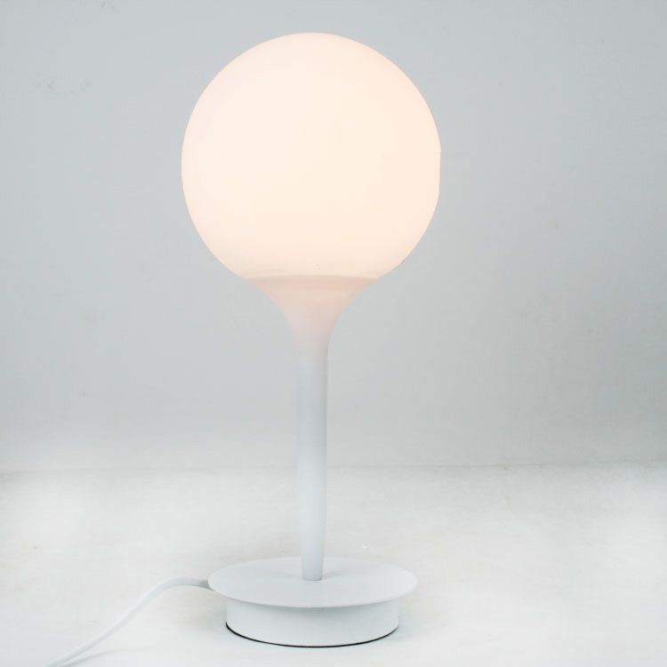 Modern glass golf ball table light italy white frosted glass lampshade study room table lighting fixtures