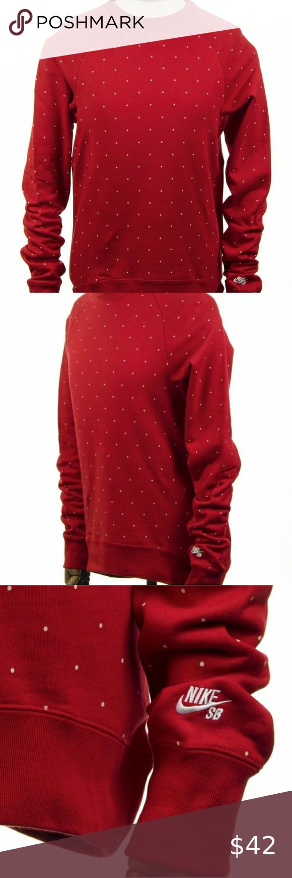 Predownload: Nike Sb Everett Polka Dot Sweatshirt Red White In 2020 Nike Sb Red Leather Jacket Polka Dots [ 1740 x 580 Pixel ]