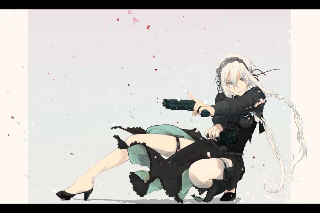 Anime girls with guns girlsgottagunstumblrpost