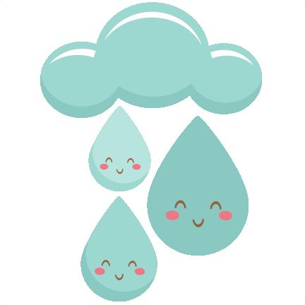 happy raindrops svg scrapbook cut file cute clipart files