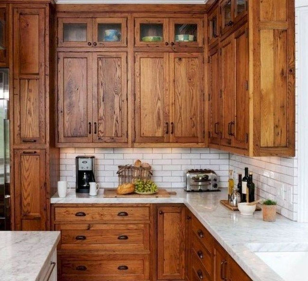 50 Elegant Rustic Farmhouse Kitchen Cabinets Ideas #darkkitchencabinets
